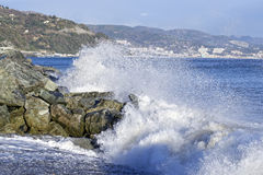 Detail of a storm in arenzano Royalty Free Stock Photography