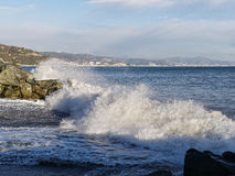 Detail of a storm in arenzano Royalty Free Stock Photo