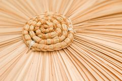 Detail of straw hat. Royalty Free Stock Photos
