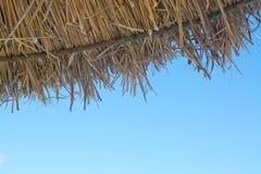 Detail of straw parasol Stock Photo