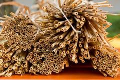 Detail of straws Stock Photos