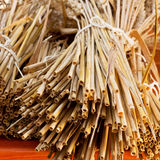 Detail of straws Royalty Free Stock Photography
