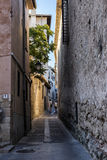 Detail of the street of the cathedral of Cuenca Royalty Free Stock Photo