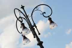 Detail of a street lamp Royalty Free Stock Photos