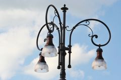 Detail of a street lamp Royalty Free Stock Photo