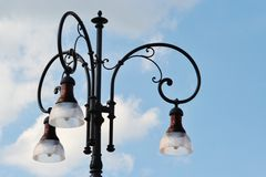 Detail of a street lamp Stock Photography