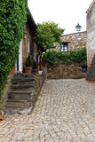 Detail of a street of a portuguese village Stock Images