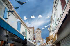 Detail of street in Saintes-Maries-de-la-Mer Royalty Free Stock Image