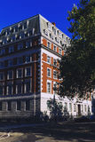 Detail of the streets of London city centre near Grosvenor Squar Royalty Free Stock Image