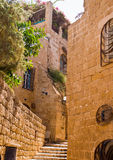 Detail streets of the old city. Jaffa ,an Alley in the old city, Jaffa is part of Tel Aviv city in Israel royalty free stock photos