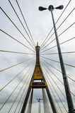 Detail Stretched cable pairs of Bhumibol Bridge. In Thailand Royalty Free Stock Photography