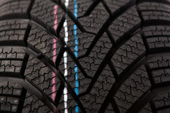 Detail structure of new winter tire Royalty Free Stock Photos