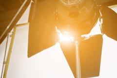 Studio lighting equipment. Detail of Studio lighting equipment stock images