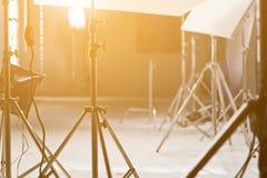 Studio lighting equipment Stock Photography