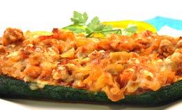 Detail of stuffed zucchini Royalty Free Stock Photo