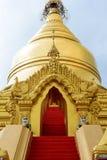 Detail of the stupa. Kuthodaw pagoda. Mandalay. Myanmar. Kuthodaw pagoda is a Buddhist stupa, located in Mandalay, that contains the world`s largest book stock image