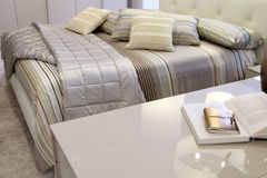Detail of a stylish bedroom Stock Image