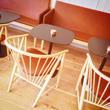 Detail of a stylish cafe interior Royalty Free Stock Image