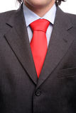 Detail of a suit and a tie. Isolated royalty free stock photography