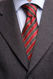 Detail of suit and tie. Isolated royalty free stock image