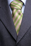 Detail of a suit and tie. Detail of a suit and a tie, isolated stock photography