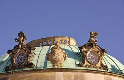 A detail of the Summer palace in Potsdam Stock Photography