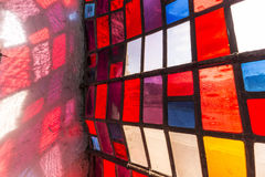 Detail of sunbeam with colorful window Royalty Free Stock Image