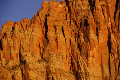 Detail, Sunset light on The Watchman Royalty Free Stock Photo