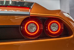 Detail of the Super lletra at the Artega Scalo stand at the Geneva International Motor Show Royalty Free Stock Image