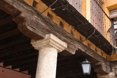 Detail of the supports of the main square Royalty Free Stock Photo