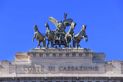 Detail of Supreme Court of Cassation in Rome in Italy Royalty Free Stock Image