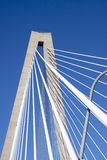 Detail of suspension bridge royalty free stock photography