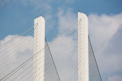 Detail of a suspension bridge in Shanghai Stock Photography