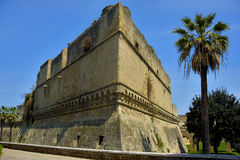 Detail swabian Castle of Bari. With tree. Puglia. Italy Royalty Free Stock Photography