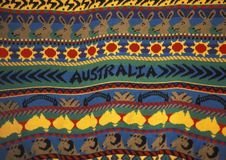 Detail of a sweater with Australian design stock photos