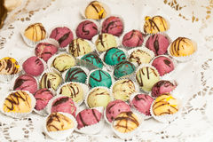 Detail of the sweet table on wedding or event party Royalty Free Stock Image