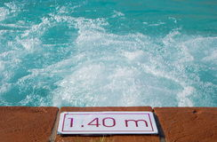 Detail of swimming pool Stock Images