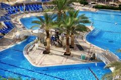 Detail of Swimming pool in Spa resort Stock Image