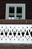 Detail of Swiss cottage Royalty Free Stock Photography
