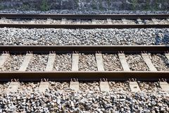 Detail of a Swiss railway Stock Photography