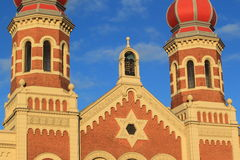 Detail of synagoge in Pilsen Stock Image