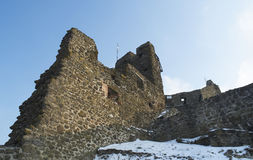 Detail from the Szigliget castle. Ruins of Szigliget's castle (Hungary Stock Photo