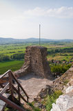 Detail of Szigliget castle with panorama Royalty Free Stock Photography