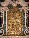 Detail of a tabernacle in a Catholic church. Stock Photo