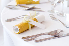 Detail of a table set Royalty Free Stock Photos