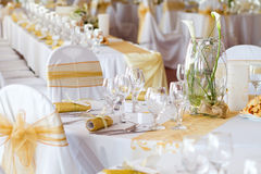 Detail of a table set Stock Photos