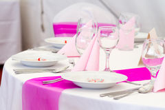 Detail of a table set Royalty Free Stock Photo
