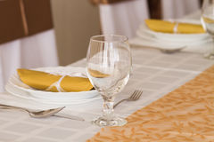 detail of a table set for an event party Royalty Free Stock Photography
