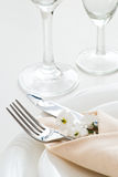 Detail of table setting Stock Image