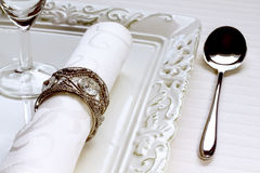 Detail of table setting Stock Images